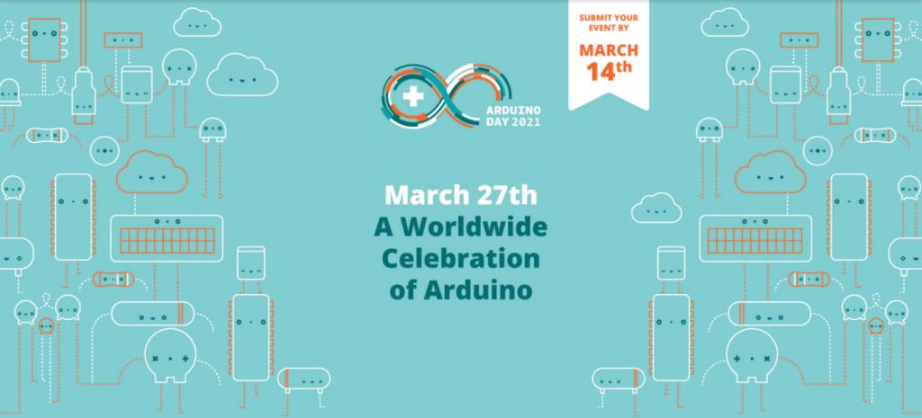 Banner: 27 Março  - uma celebração mundial do arduino